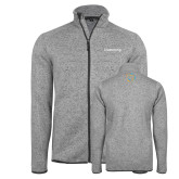 Grey Heather Fleece Jacket-Livestrong Wordmark