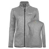 Grey Heather Ladies Fleece Jacket-Livestrong Wordmark
