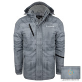 Grey Brushstroke Print Insulated Jacket-Livestrong Wordmark