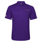 Adidas Climalite Purple Game Time Polo-Wordmark