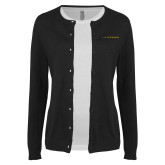 Ladies Black Cardigan-LIVESTRONG