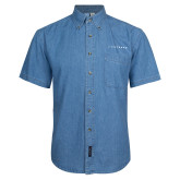 Denim Shirt Short Sleeve-Wordmark