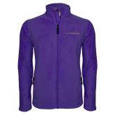 Fleece Full Zip Purple Jacket-Wordmark