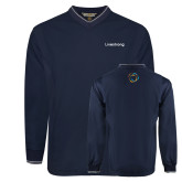 Navy Executive Windshirt-Livestrong Wordmark