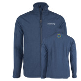 Navy Heather Softshell Jacket-Livestrong Wordmark