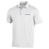 Under Armour White Performance Polo-Livestrong Wordmark