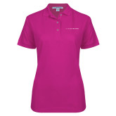 Ladies Easycare Tropical Pink Pique Polo-LIVESTRONG