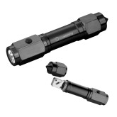 Heavy Duty Black Flashlight/Emergency Tool-Livestrong Horizontal Engraved