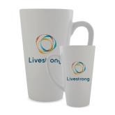Full Color Latte Mug 17oz-Livestrong Stacked