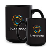 Full Color Black Mug 15oz-Livestrong Stacked