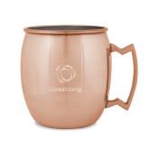 Copper Mug 16oz-Livestrong Stacked Engraved