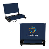 Stadium Chair Navy-Livestrong Stacked
