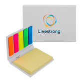 Micro Sticky Book-Livestrong Stacked