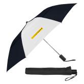 42 Inch Slim Stick Black/White Vented Umbrella-LIVESTRONG
