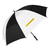 62 Inch Black/White Vented Umbrella-LIVESTRONG