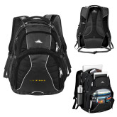High Sierra Swerve Black Compu Backpack-LIVESTRONG
