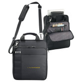 Kenneth Cole Black Vertical Checkpoint Friendly Messenger-Wordmark