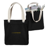 Allie Black Canvas Tote-LIVESTRONG