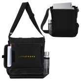 Impact Vertical Black Computer Messenger Bag-LIVESTRONG