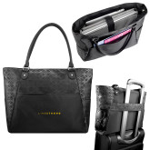 Sophia Checkpoint Friendly Black Compu Tote-Wordmark