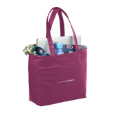 Fine Society Berry Computer Tote-LIVESTRONG