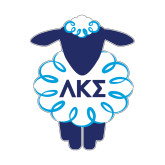 Small Decal-Lamb w Greek Letters, 5 inches wide