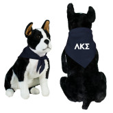 Navy Pet Bandana-Greek Letters