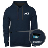 Contemporary Sofspun Navy Heather Hoodie-Greek Letters