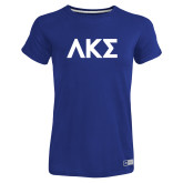 Ladies Russell Royal Essential T Shirt-Greek Letters