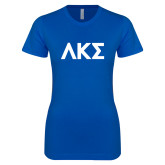 Next Level Ladies SoftStyle Junior Fitted Royal Tee-Greek Letters