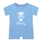 Light Blue Infant Romper-Baby w LKS Lamb