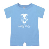 Light Blue Infant Romper-Legacy w LKS Lamb