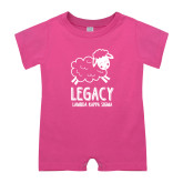 Bubble Gum Pink Infant Romper-Legacy LKS