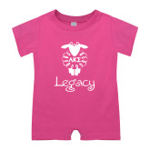 Bubble Gum Pink Infant Romper-Legacy w LKS Lamb