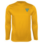 Performance Gold Longsleeve Shirt-Crest