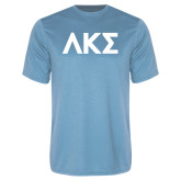 Performance Light Blue Tee-Greek Letters