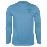 Performance Light Blue Longsleeve Shirt-Crest