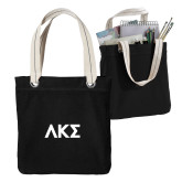 Allie Black Canvas Tote-Greek Letters