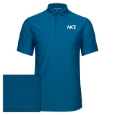 Sapphire Horizontal Textured Polo-Greek Letters
