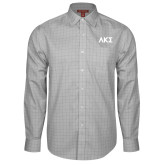 Red House Grey Plaid Long Sleeve Shirt-Greek Letters