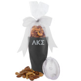 Deluxe Nut Medley Vacuum Insulated Graphite Tumbler-Greek Letters Engraved