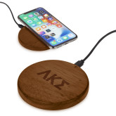 Bora Wooden Wireless Charging Pad-Greek Letters Engraved