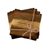 Acacia Wood Coaster Set-Educational Trust Word Mark Engraved