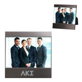 Brushed Gun Metal 4 x 6 Photo Frame-Greek Letters Engraved