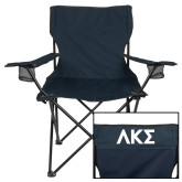 Deluxe Navy Captains Chair-Greek Letters