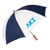 62 Inch Navy/White Vented Umbrella-Greek Letters