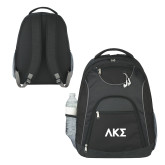 The Ultimate Black Computer Backpack-Greek Letters