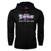 Big West Black Fleece Full Zip Hoodie-Big West Champions Long Beach State