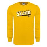 Big West Gold Long Sleeve T Shirt-2015 Womens Soccer - Long Beach