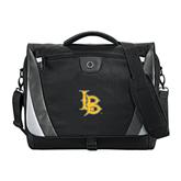 Slope Black/Grey Compu Messenger Bag-Interlocking LB